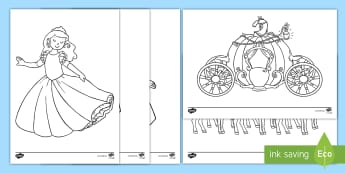 Cinderella Colouring Sheets - cinderella, colouring, sheets