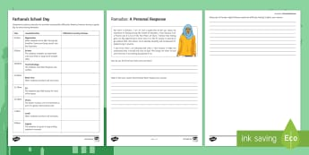 Ramadan Worksheet / Activity Sheets - Ramadan, fasting, hunger, food, jealous, proud, example of Prophet Muhammad, dedication, commitment,