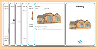 Starting Nursery Social Situation - First Day, Social Story, Nursery Daily Routine, Early level, 3 year old, Scottish