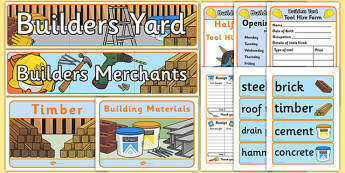 Builders Yard Role Play Pack - role-play, pack, builders, yard