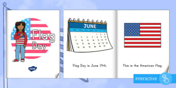 Flag Day (USA) Emergent Reader eBook - Flag Day, Beginning Readers, American Flag, Old Glory, Stars and Stripes
