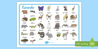 Animals Word Mat