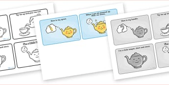 I'm a Little Teapot Sequencing (4 per A4) - I'm a Little Teapot, sequencing, nursery rhyme, rhyme, rhyming, nursery rhyme story, nursery rhymes, teapot, tea, I'm a Little Teapot resources