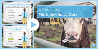 UK Farming: Quiz 2 PowerPoint - industry, farming, primary, food, farming, arable, pastoral