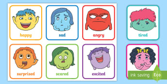 image about Free Printable Emotion Cards identify My Feelings Main Elements