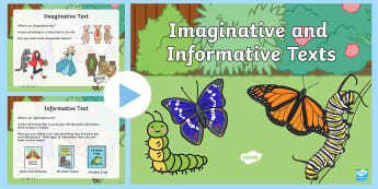 Imaginative versus Informative Texts PowerPoint - Australian Curriculum, English, Literacy, Australia, compare, different, Content Descriptor ACELY164