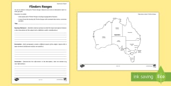 Australian States and Territories – Flinders Ranges Information Report - Year 3, Year 4, Year 5, Year 6, ACHASSK066, Australian Curriculum, Geography, South Australia, langu