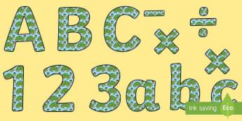 Tortoise themed Display Lettering - Tortoise Themed Size Editable Display Lettering, letering, displaylettering, display lettring, llett