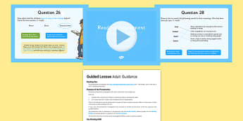 Year 6 Reading Assessment Fiction Term 3 Guided Lesson Pack - test, sats, summative, diagnostic, practice, sample, guided, peer