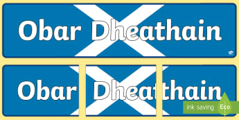 CfE Obar Dheathain (Aberdeen) Display Banner Gaelic - CfE Gaelic DisplayCfE Obar Dheathain (Aberdeen) Gaelic, Aberdeen, Obar Dheathain, Cities, People and