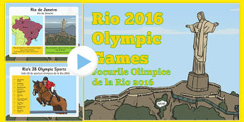 KS1 Rio Olympics 2016 Information PowerPoint Romanian Translation - romanian, Olympic Games 2016, KS1, olympics, Rio, Brazil, information powerpoint