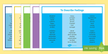 Ambitious Vocabulary - vocabulary, ks2 vocabulary, vocabulary word mats, vocabulary word mats, descriptive writing aid