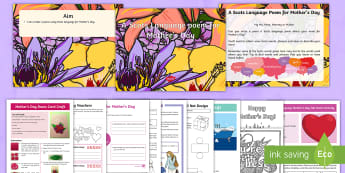 Mother's Day Resource Pack - Celebrate, care, mum, activity, make, create,Scottish