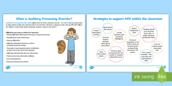 Auditory Processing Disorder Adult Guidance - APD, Hearing, what is it, characteristics, strategies