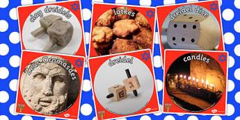 Hanukkah Display Photo Cut Outs - hanukkah, display, photos, cut