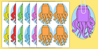 Plain Octopus for Fishing Games Phonics - plain, octopus, fishing games, fishing, game, phonics