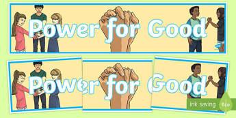 Anti-Bullying Week 'Power for Good' Display Banner