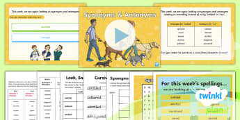 PlanIt Spelling Year 6 Term 3B W6: Synonyms and Antonyms for Walked/Ran Spelling Pack - Spellings Year 6, synonyms, antonyms, y6, spag, gps,