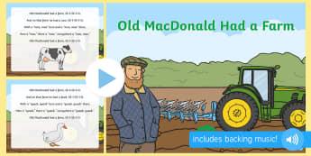Old MacDonald Had a Farm Lyrics - old macdonald had a farm lyrics