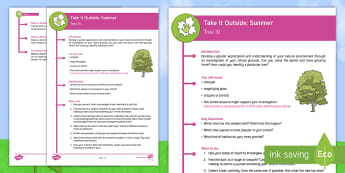 KS2 Take It Outside: Summer Tree ID Activity - identification, branching, database, forest school, Nature, Detective, outdoor, woodland learning, twinkl outdoor and woodland learning owl get it