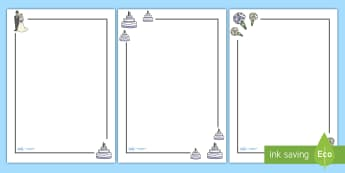 Wedding Page Borders - Weddings, Page border, border, writing Borders, wedding, marriage, bride, groom, church, priest, vicar, dress, cake, ring, rings, bridesmaid, flowers, bouquet, reception, love