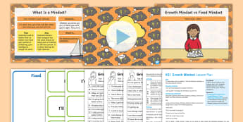 KS1 Growth Mindset Lesson Plan and Differentiated Worksheet / Activity Sheets - fixed mindset, attitude, behaviour, mindset, Carol Dweck.