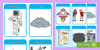Phase 5 Digraphs ou, au Matching Peg Activity - Letters And Sounds, Blend, Decode, Phonics, blends