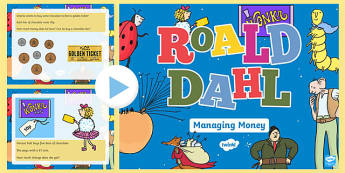 Roald Dahl Themed Year 2 Managing Money PowerPoint-Welsh