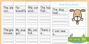 Simple Sentences Writing Prompt Pictures Activity - simple sentences, writing, prompts, English, literacy
