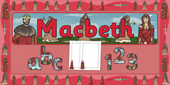 Macbeth Display Pack - Scottish play, Shakespeare, macbeth, display