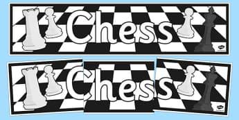 Chess Display Banner - chess, display banner, display, banner