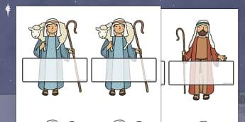 Editable Self Registration Labels (Nativity Scene) - Self registration, Christmas, xmas, nativity, register, editable, labels, registration, child name label, printable, Christmas Story, xmas, Mary, Joseph, Jesus, shepherd, wise men, Herod, angel, do