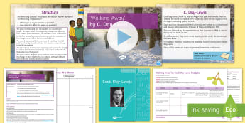 GCSE Poetry Lesson Pack to Support Teaching On 'Walking Away' by Cecil Day-Lewis - Poetry, KS4, Day, Lewis, Walking away, AQA