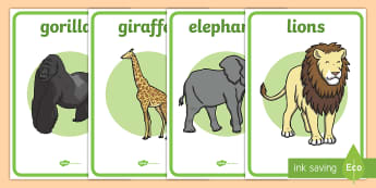 Zoo Animal Enclosure Role-Play Signs - zoo, animal, role-play, signs, pretend, display, lion, tiger, elephant, monkey