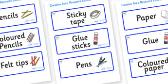 Husky Themed Editable Creative Area Resource Labels - Themed creative resource labels, Label template, Resource Label, Name Labels, Editable Labels, Drawer Labels, KS1 Labels, Foundation Labels, Foundation Stage Labels