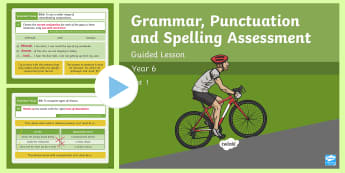Year 6 Grammar, Punctuation and Spelling Test 1 Guided Lesson PowerPoint - Year 6 SPaG Guided Lesson PowerPoints and Packs, Year 6, SATs, Y6, revision, SPaG, GPs, grammar, pun