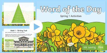 Year 1 Word of the Day Spring 1 PowerPoint - spellings, patterns, English, Literacy, Rules