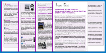 How Social Media Is Used To Encourage Travel To Syria And Iraq Briefing Note For Schools DfE and Home Office Adult Guidance - Radicalisation, radicalised, social Platform, home office guidance, Safeguarding, Prevent, Online
