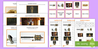 Buddhist Artefacts Activity Pack - Buddhism, Buddha, Special Objects, World religion, beliefs,Scottish