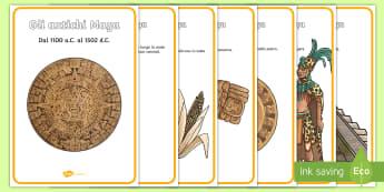 La civiltà Maya nel tempo Poster - storia, linea, del, tempo, classe, materiale, scolastico, italiano, italian