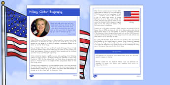 Hillary Clinton Biography Fact File