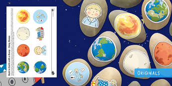 Back to Earth with a Bump Story Stone Image Cut-Outs - EYFS, Early Years, Twinkl Fiction, Twinkl Originals, Story, Back to Earth with a Bump, Space, Rocket