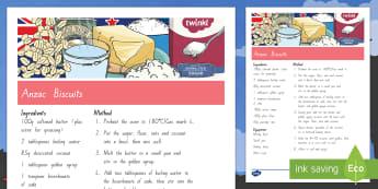 ANZAC Biscuits Recipe  - New Zealand, Anzac Day, 25 April, ANZAC, Poppies, World War 1, World War 2, Gallipoli, ANZAC Biscuit
