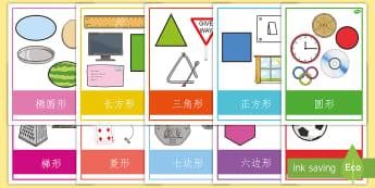 2D Shape Poster - 平面图形,日常物品,展示张贴,海报。