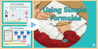 Using Simple Formulas Second Level PowerPoint - algebra, expression, equation, maths, express,Scottish