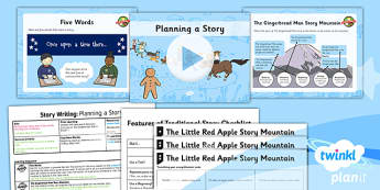 Traditional Tales: The Gingerbread Man: Story Writing 1 Y2 Lesson Pack - traditional tales, fairy tales, storytelling, retelling, story map, talk for writing