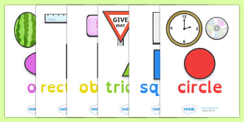 2D Shape Posters With Everyday Examples Dyslexia - 2d shape posters, 2d shape posters with examples, 2d shape posters in dyslexia font, sen maths resources