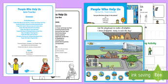 People Who Help Us Quiet Time Box - People Who Help Us, policeman, fireman, firefighter, paramedic, ambulance man, emergency services
