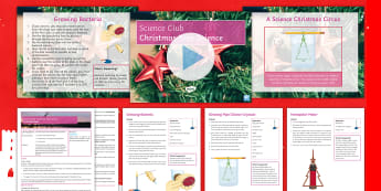 Science Club: Christmas Tree Investigations Activity Pack - Christmas, Crystals, petri dish, Bacteria, Motor effect