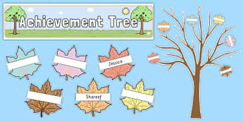 Ready Made Achievement Tree Display Pack Neutral Colours - pack